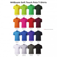 NHB2400 Soft Touch Polo T-Shirts 2018-19 catalogue