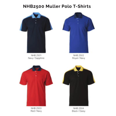 NHB2500 Muller Polo T-Shirts 2018-19 catalogue
