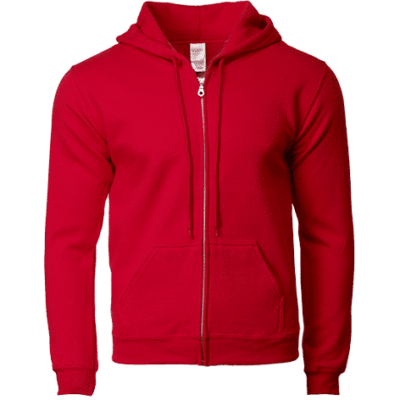 Red Gildan 88600 400x400 - Gildan Full Zip Hooded Sweatshirts (88600)