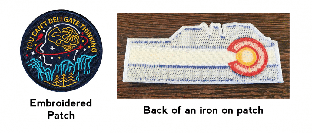 Embroidery iron on patch and embroider patch