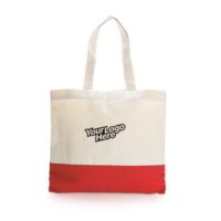Apdox Two Tone Canvas Tote Bag red