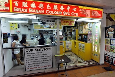 Bras Basah colour services centre