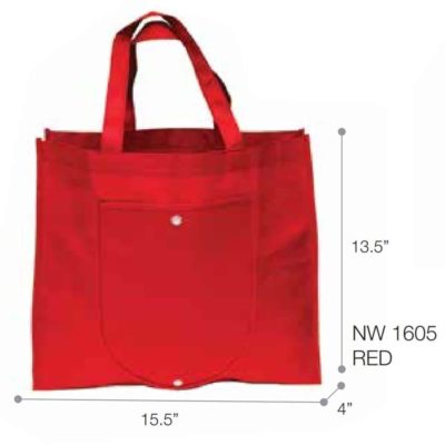 Foldable Non Woven Bag NW16 2018-19 red