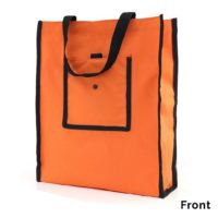 Nylon Foldable Tote bag 2018-19 orange front bag