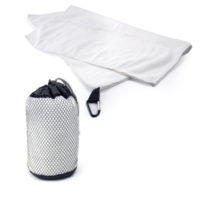 Qvosoft Sports Towel in Mesh Pouch 2018-19 white