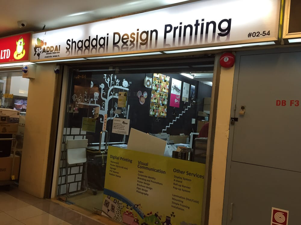 Shaddai Design Printing katong shopping centre