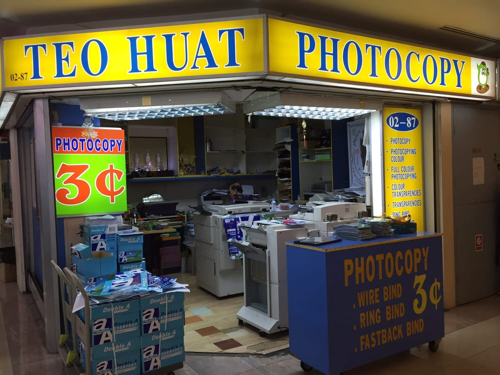 Teo Huat Photocopy katong shopping centre