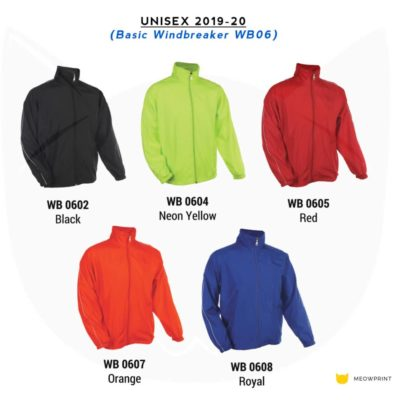Basic Windbreaker WB06 2019-20 catalogue