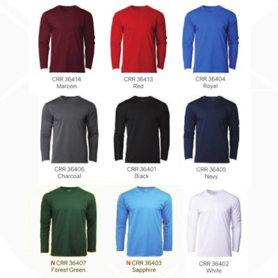 CRR36400 Performance Long-Sleeves Tee 2019-20 catalogue