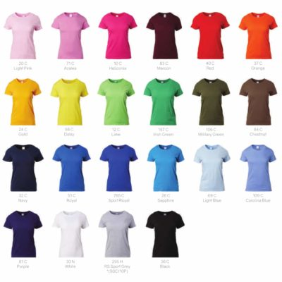 Gildan Premium Cotton Adult T-Shirts 76000 2019-20 ladies catalogue