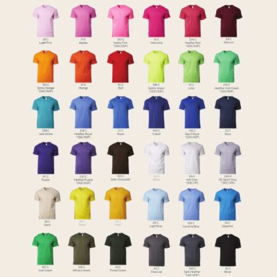 Gildan Premium Cotton Adult T-Shirts 76000 2019-20 unisex catalogue