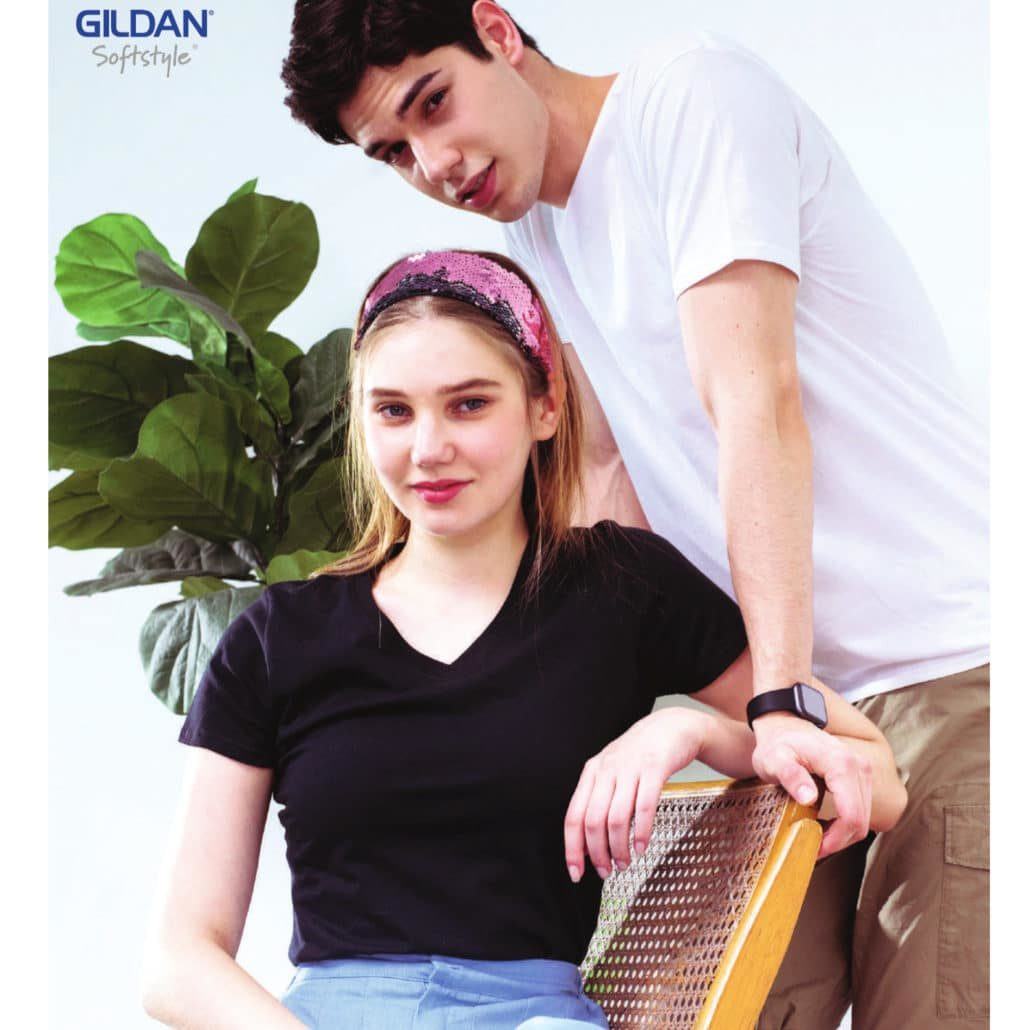 Gildan Softstyle Adult V-Neck T-shirts 63V00 2019-20 models 3
