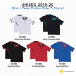 HC20 Multi-Tone Cotton Polo T-Shirts 2019-20 catalogue
