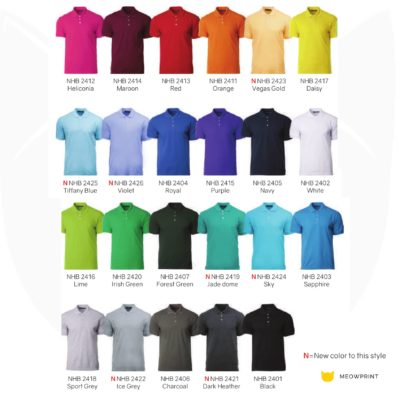 NHB2400 Soft Touch Polo T-Shirts 2019-20 catalogue