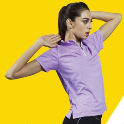 QD18 2-Tone Mandarin Collar Polo T-Shirts 2019-20 models 2