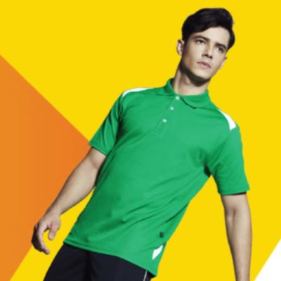QD34 Multi-Tone Dri-Fit Polo T-Shirts 2019-20 models 1