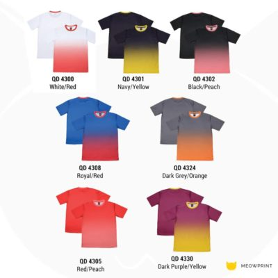 QD43 Multi-tone dri-fit t-shirts 2019-20 catalogue
