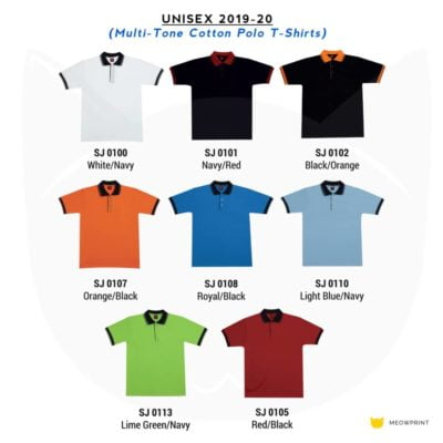 SJ01 Multi-Tone Cotton Polo T-Shirts 2019-20 catalogue