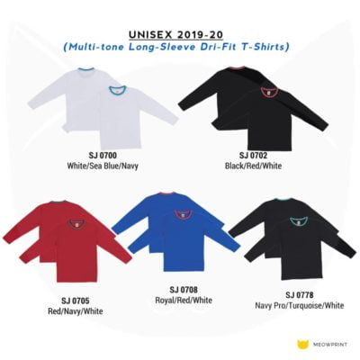 SJ07 Multi-tone Long-sleeve Dri-Fit T-Shirts 2019-20 catalogue