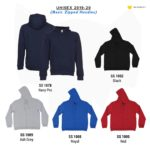 SS10 Basic Zipped Hoodies 2019-20 catalogue