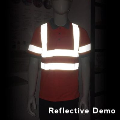 UNO Reflective Safety Round Neck T Shirt 2019 reflective demo 400x400 - Safety Vest Reflective Polo T-Shirt