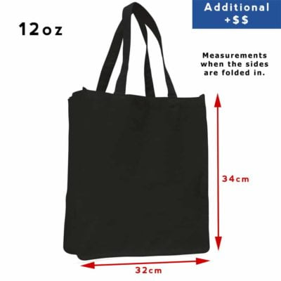 12oz Shopper canvas bag black