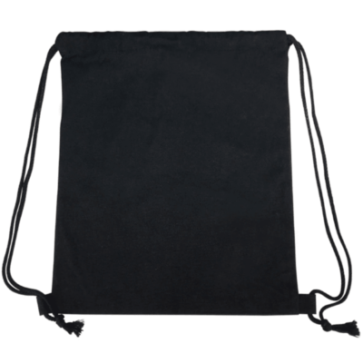 2019 Black drawstring canvas bag 400x400 - Canvas Drawstring Bag