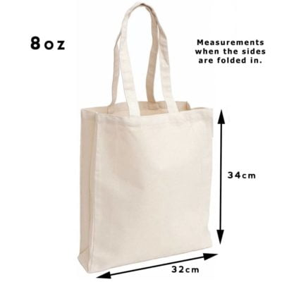 8oz Shopper canvas bag beige