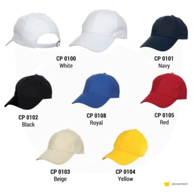 CP01 6-panel Baseball Cap 2019-20 catalogue