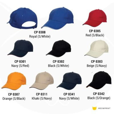 CP03 6-panel Baseball Cap 2019-20 catalogue