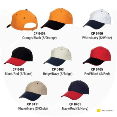 CP04 6-panel Baseball Cap 2019-20 catalogue