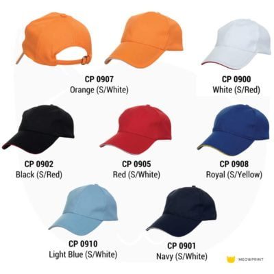 CP09 Quick Dry 6-panel Baseball Cap 2019-20 catalogue