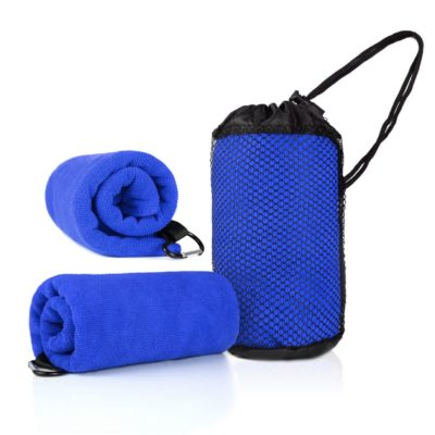 WSP1005 BlueHD 400x400 - Qvosoft Sports Towel in Mesh Pouch