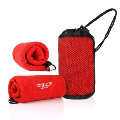 WSP1005 LogoHD 400x400 - Qvosoft Sports Towel in Mesh Pouch