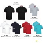 HC23 Multi-Tone Mandarin Polo T-Shirts 2019-20 catalogue