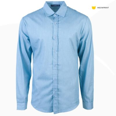 NHB 3101 Sky 400x400 - NHB3100 Virgil Denim Long Sleeve Shirt