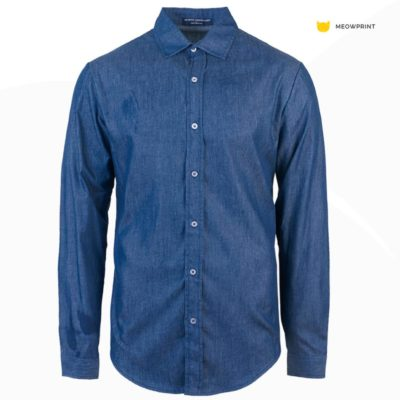 NHB 3102 Earl Blue 400x400 - NHB3100 Virgil Denim Long Sleeve Shirt