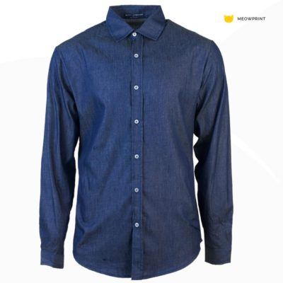 NHB 3103 Midnight 400x400 - NHB3100 Virgil Denim Long Sleeve Shirt