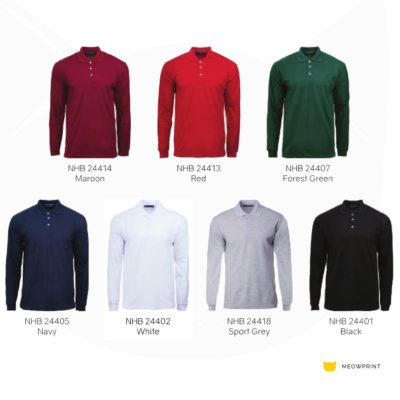 NHB2440 Soft Touch Long Sleeve Polo T-Shirts 2019-20 catalogue