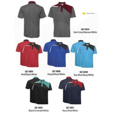 QD58 Multi-Tone Dri-Fit Polo T-Shirts 2019-20 catalogue