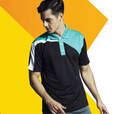 QD58 Multi-Tone Dri-Fit Polo T-Shirts 2019-20 models 1