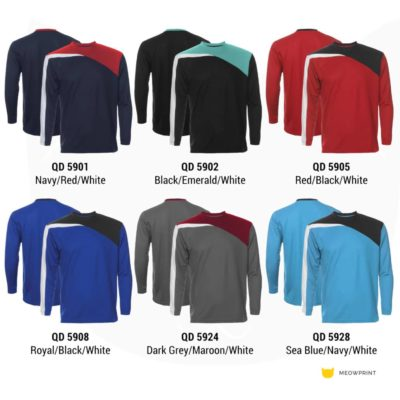 QD59 Multi-tone Long-Sleeve Dri-Fit T-Shirts 2019-20 catalogue