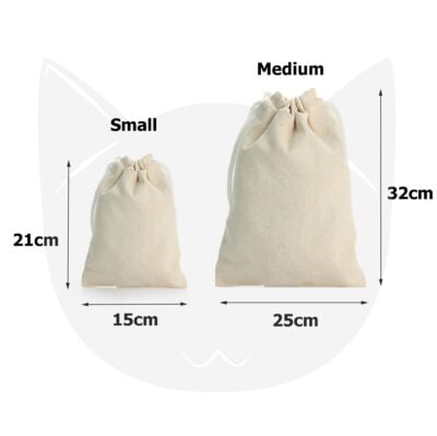 Canvas Drawstring Pouch size