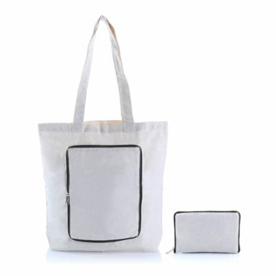 Foldable Zipper Colored Canvas Tote Bag 2019 29 black 400x400 - Foldable Colored Zipper Canvas Tote Bag