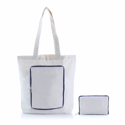 Foldable Zipper Colored Canvas Tote Bag 2019 29 blue 400x400 - Foldable Colored Zipper Canvas Tote Bag