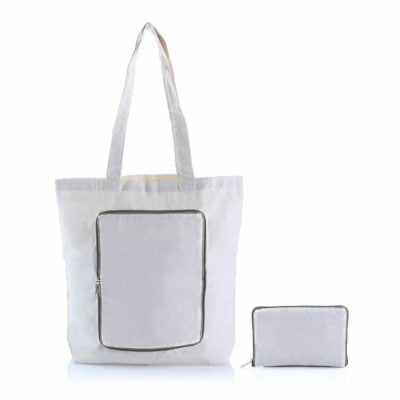 Foldable Zipper Colored Canvas Tote Bag 2019 29 grey 400x400 - Foldable Colored Zipper Canvas Tote Bag