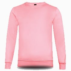 BEAM Polyester Crewneck Sweatshirt 2019-20 light pink