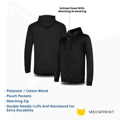 BEAM Polyester Zipped Hoodies 2019-20 details