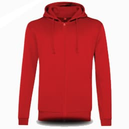 BEAM Polyester Zipped Hoodies 2019-20 red