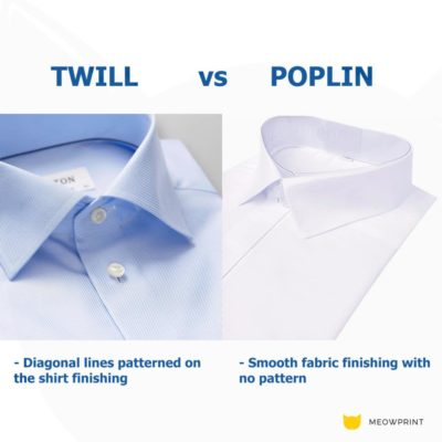 BEAM Twill vs Poplin fabric comparison